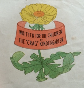 Picture of yellow flower with dedication to children from children's book Quippy