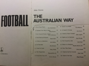 title page of book about football