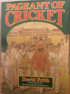 Cover showing artist's impression of great cricketers of the present and past